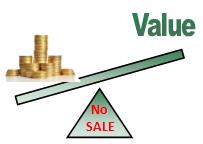 Value Pricing - no sale