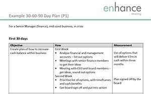 Example of 30-60-90 Day Plan